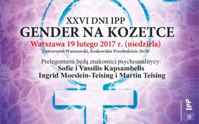 """XXVI Dni IPP: """"GENDER NA KOZETCE"""" 19 lutego 2017 r"""