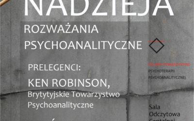 28.10.2017 Konferencja PTPP Nadzieja. Rozważania psychoanalityczne.