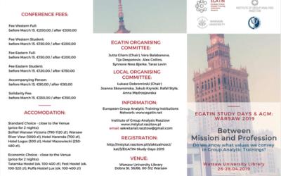 26 – 28.04.2019 Konferencja EGATIN Study Days 2019 w Warszawie