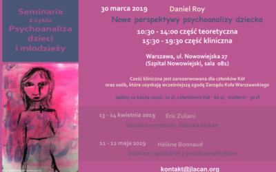 30.03.2019 Seminarium NLS Nowe Perspektywy Psychoanalizy Dziecka